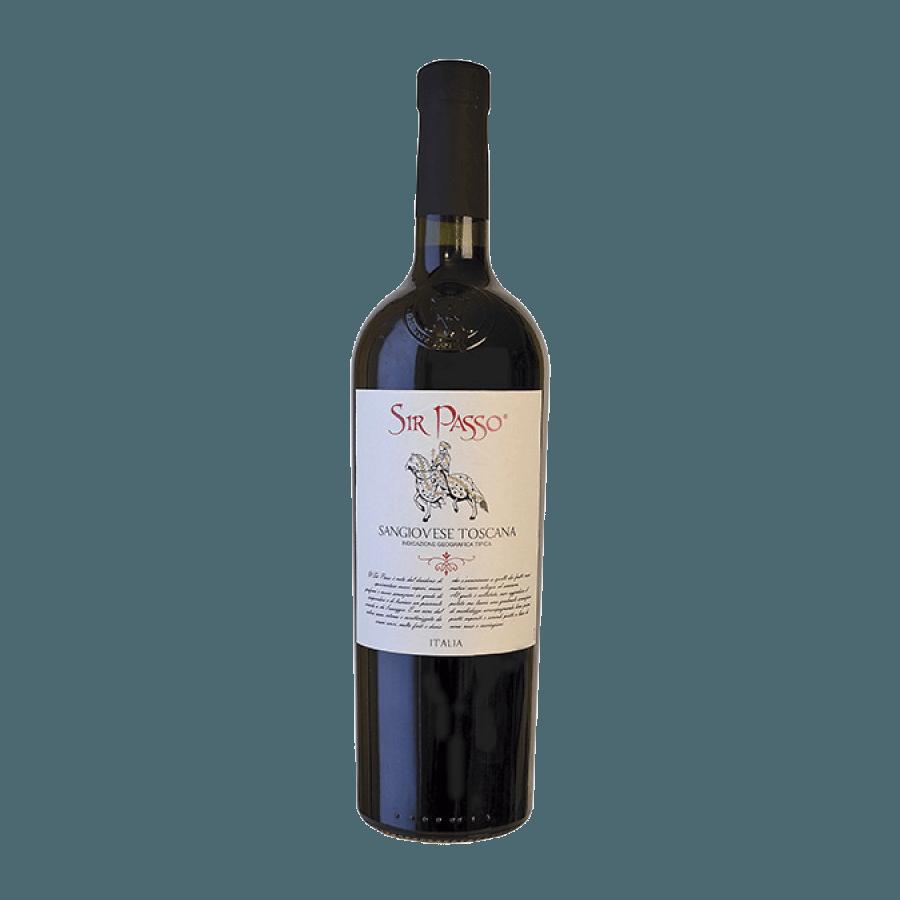 Вино Sir Passo Sangiovese Toscana IGT (красное, полусухое) 0,75 л