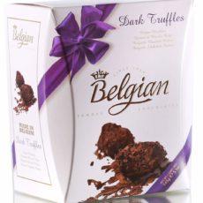 Трюфели The Belgian из горького шоколада в хлопьях 145г