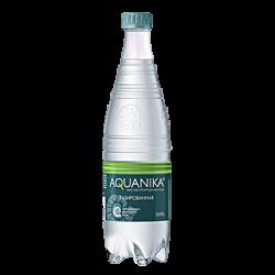 Акваника, питьевая газированная вода, 0.618 л.