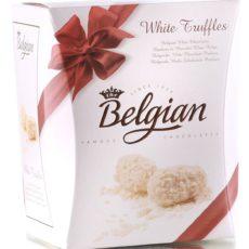 Трюфели The Belgian из белого шоколада в хлопьях 145г