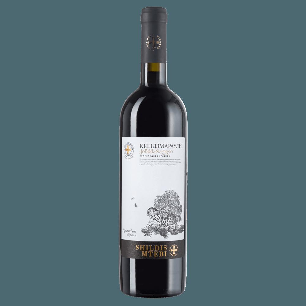 Вино Kindzmarauli Shildis Mtebi (красное, полусладкое), 0.75 л. 2017 г. (S)