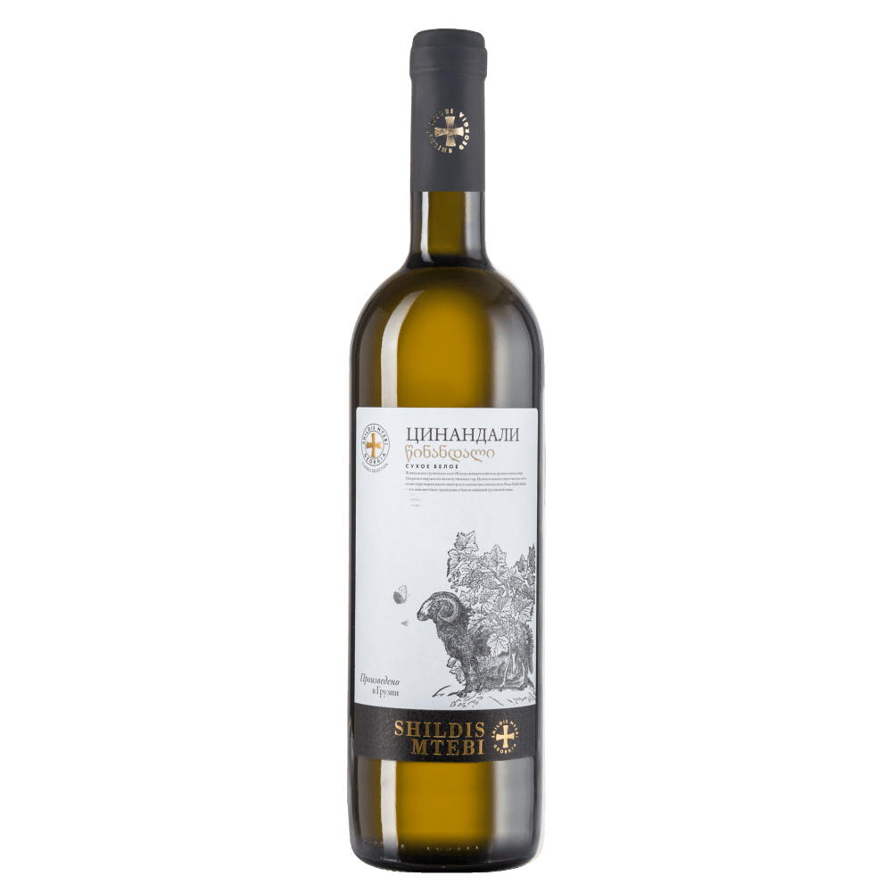 Вино Alazani Valley Shildis Mtebi (белое, сухое), 0.75 л. 2016 г. (S)