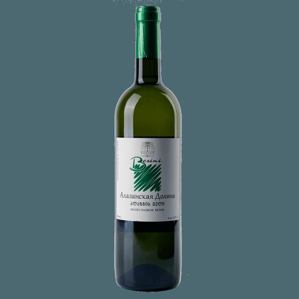 Вино Alazani Valley (белое, полусладкое), 0.75 л. 2017 г. (S)