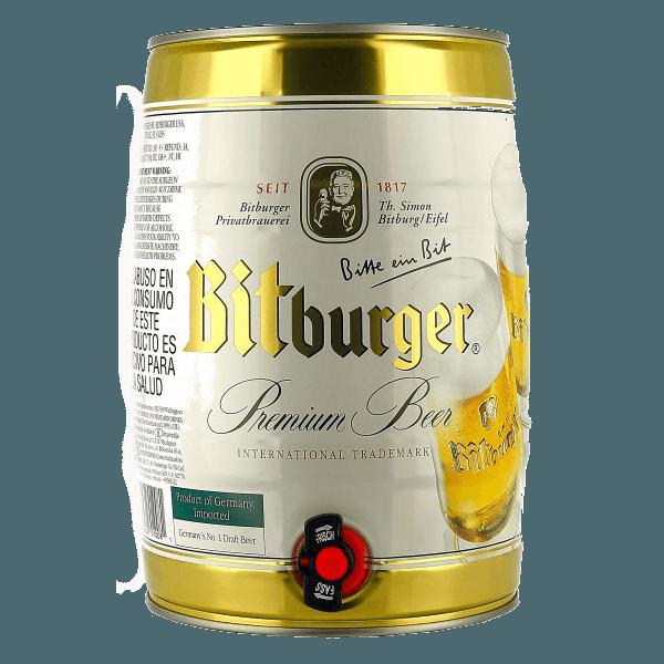 "Пиво ""Битбургер Премиум Пилс"" (светлое), 4.8%, 5 литров"