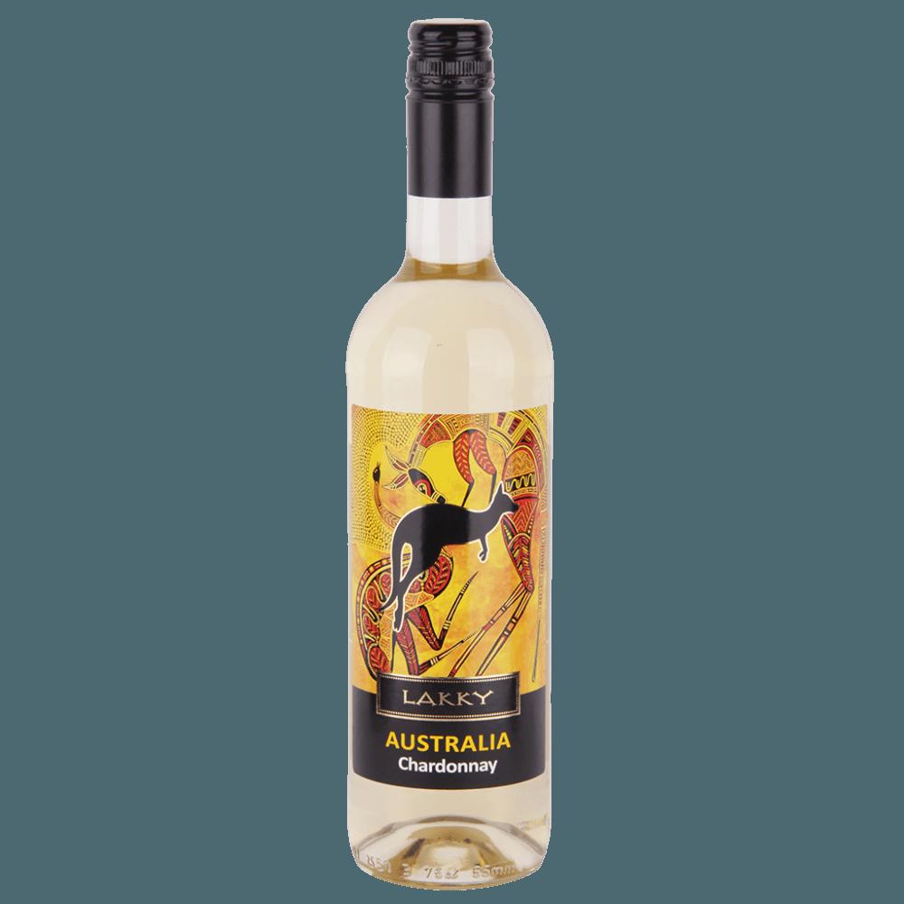 Вино Lakky Chardonnay (белое, полусухое), 0.75 л. (S)
