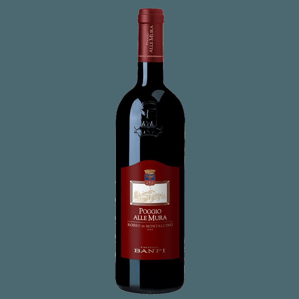 Вино Rosso di Montalcino Poggio alle Mura (красное, сухое), 0.75 л., 2012 г. (S)