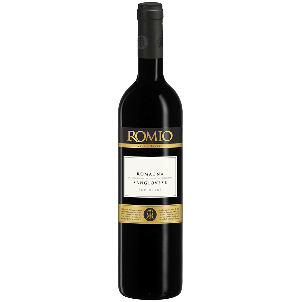 Вино Romio Sangiovese di Romania Superiore (красное, сухое), 0.75 л., 2015 г. (S)