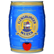 """Пиво """"Flensburger Weizen"""", алк 5,1%, 5 литров"""