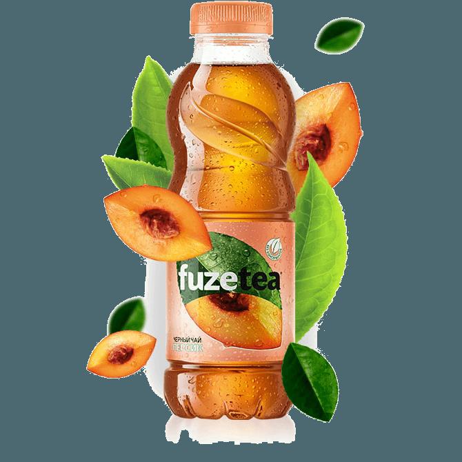 """Холодный чай """"Fuzetea"""" (персик), 500 мл"""