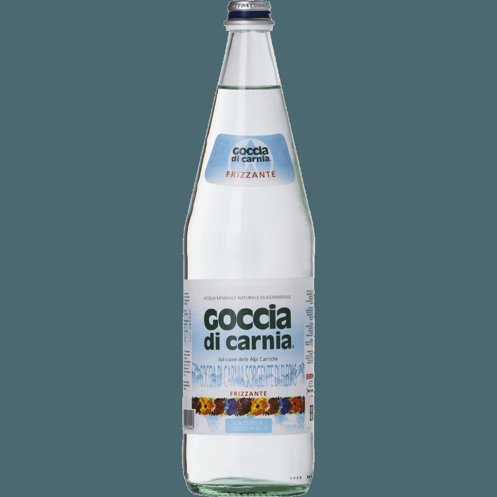 Goccia di Carnia, вода газированная, 1.0 л.