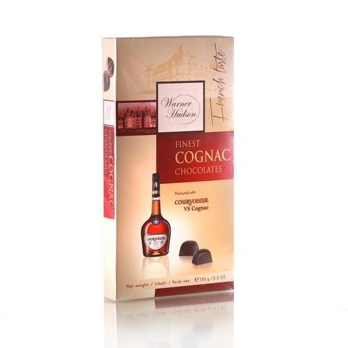 """Warner Hudson Шоколадные конфеты с коньяком Курвуазьер"""" 150г"""