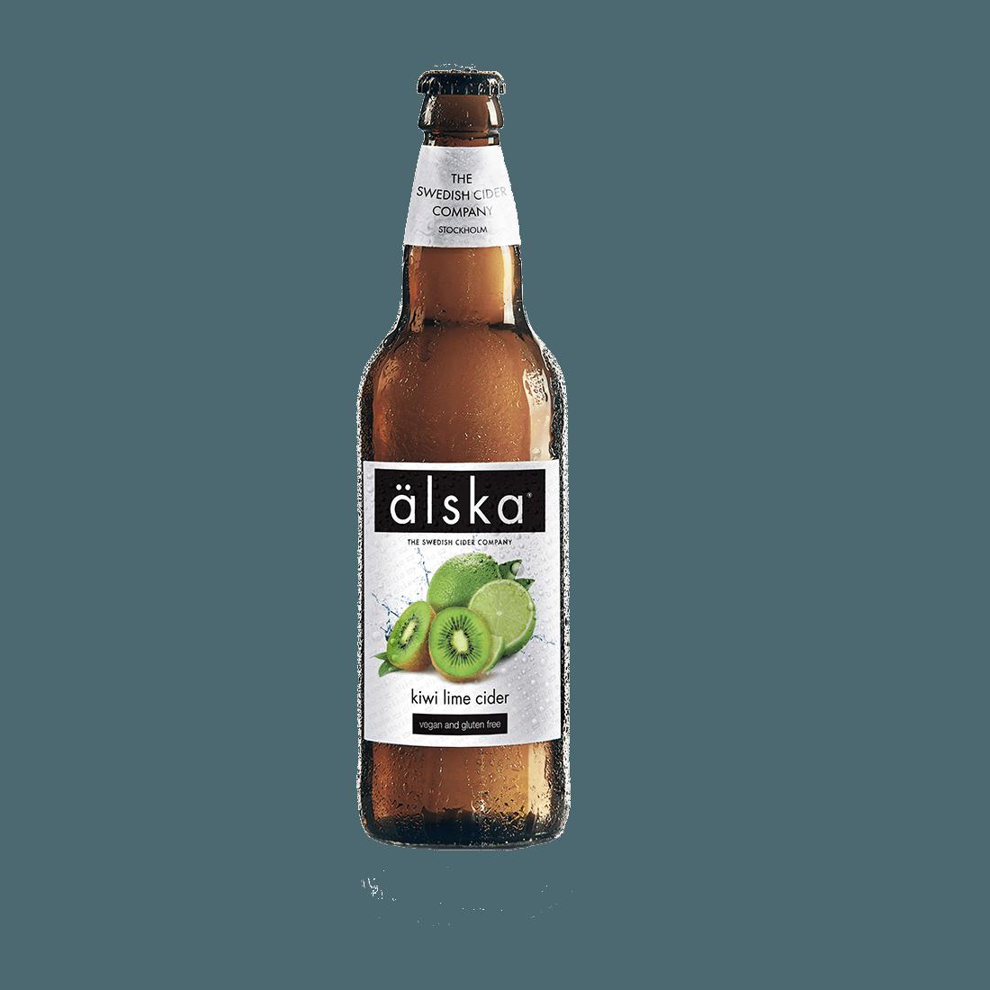 """Сидр Alska """"Пуаре Алска"""", (киви и лайм)  0,5 л."""