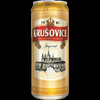 """Пиво """"Krusovice"""" Крушовица Империал, cветлое, 0.5 л., (5.0%)"""