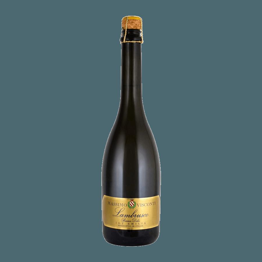 Вино игристое Lambrusco Massimo Visconti Bianco Dolce (белое, сладкое) 0,75 л