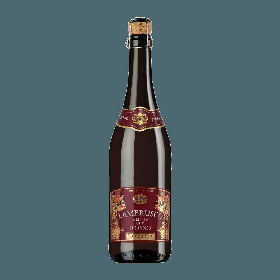 Вино игристое S. ORSOLA Lambrusco Emilia Rosso, 0.75 л.