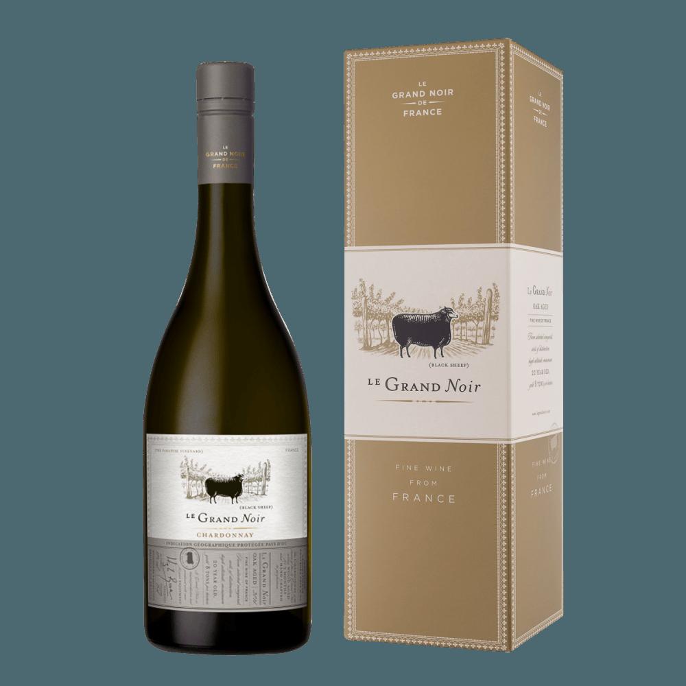 Вино Ле Гран Нуар WS Шардоне в П/У, 0.75 л., 2016 г. (s)