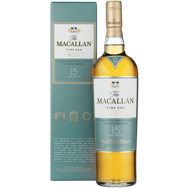 Виски Macallan Fine Oak 15 Years Old, 0.7 л.