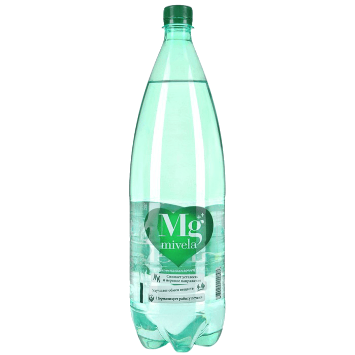 Mivela Mg, минеральная газированная вода, 1500 мл