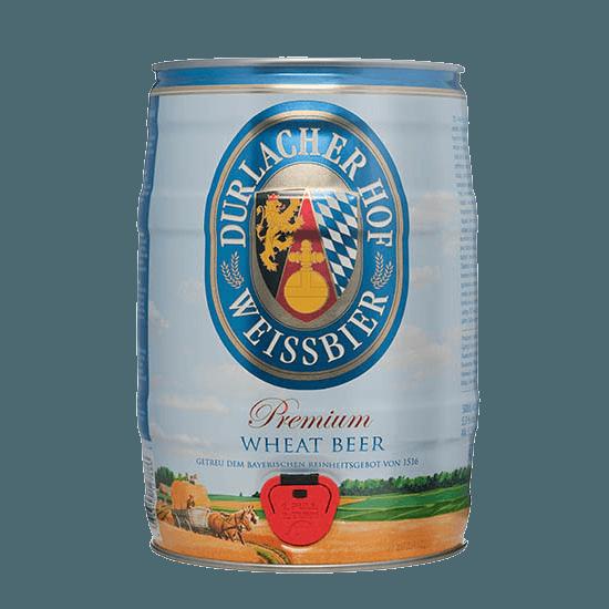 """Пиво """"Дурлашер Хефевайсбир Хелл"""", 5.3%, 5 литров"""