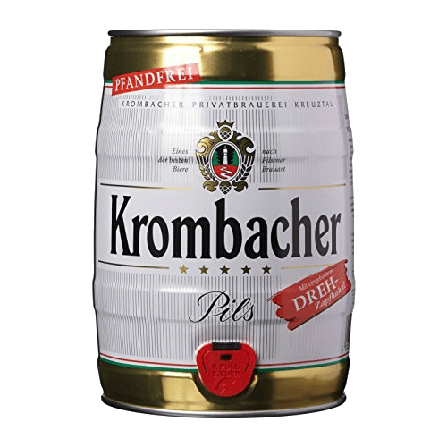 """Пиво """"Krombacher Pils"""", алк 4.8%, 5 литров"""
