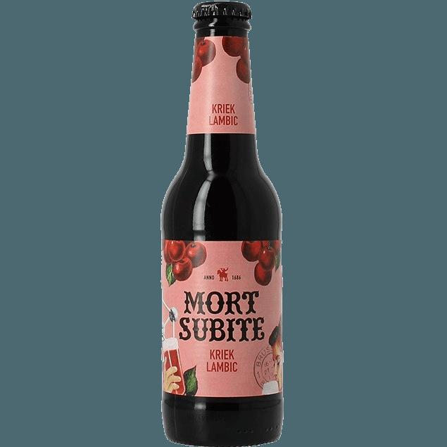 """Вишневое пиво """"Mort Subite"""" Kriek Lambic, 0.25 л. ( 4%)"""
