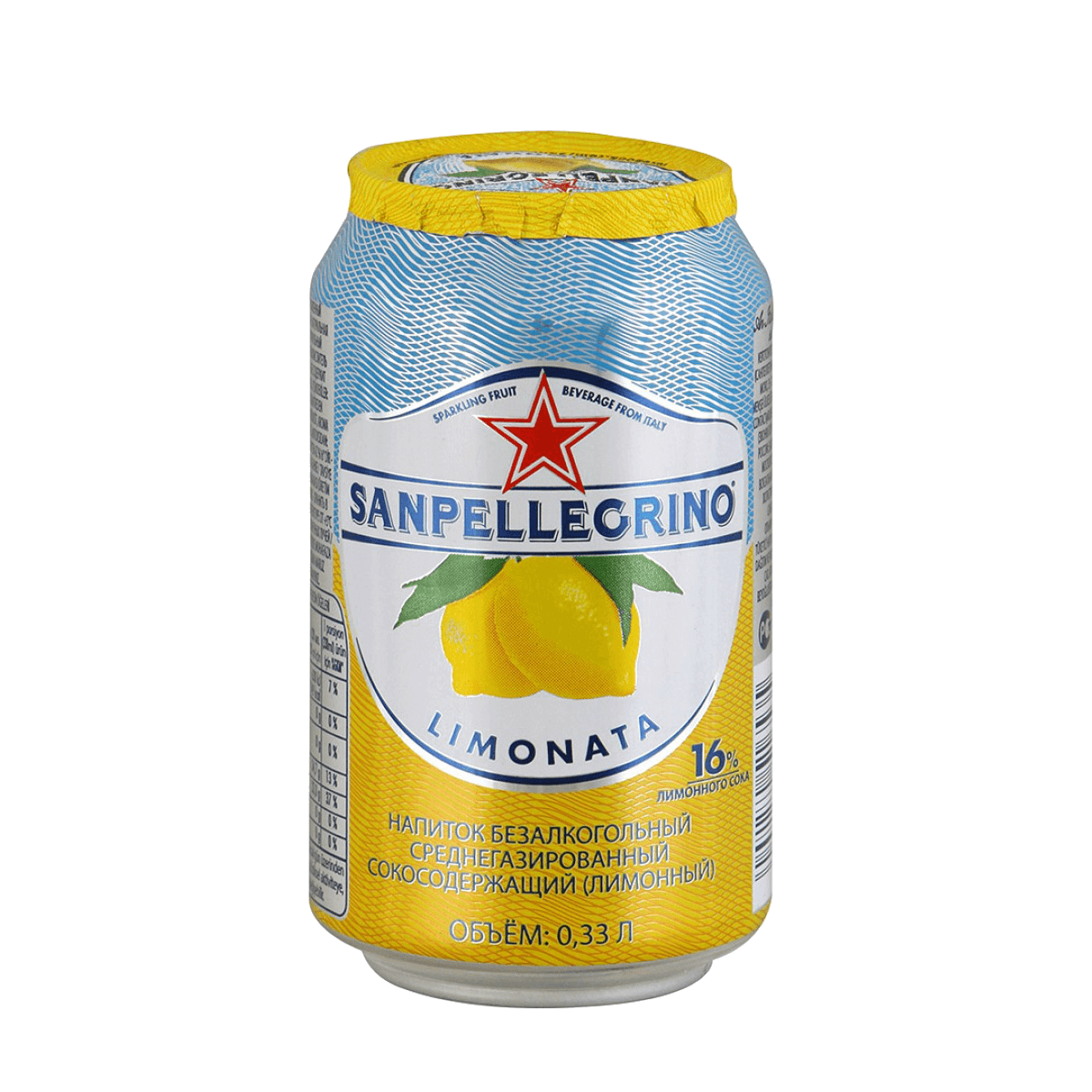 "S.Pellegrino ""Lemonata"", сокосодержащий напиток, 0.33 л."