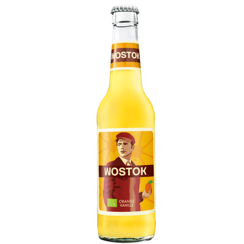 """Натуральный напиток """"WOSTOK"""" BIO Апельсин, 0.33 л."""