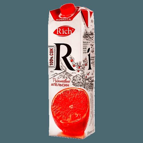 Rich Сок рубиновый апельсин 1000 мл