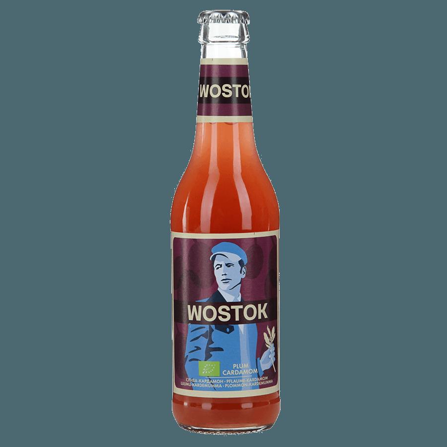 Натуральный напиток WOSTOK BIO Слива-Кардамон, 0.33 л.