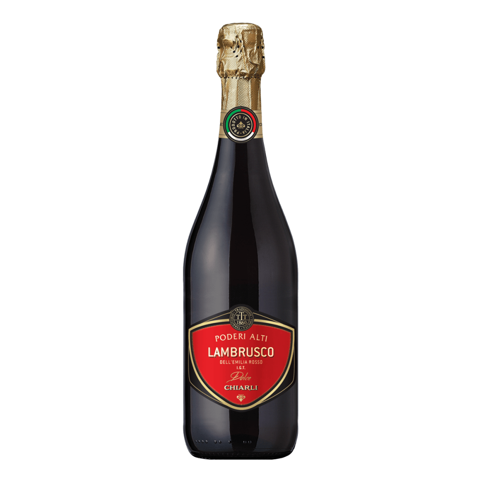 Шипучее вино Lambrusco dell'Emilia Rosso Poderi Alti, 0.75 л. (s)