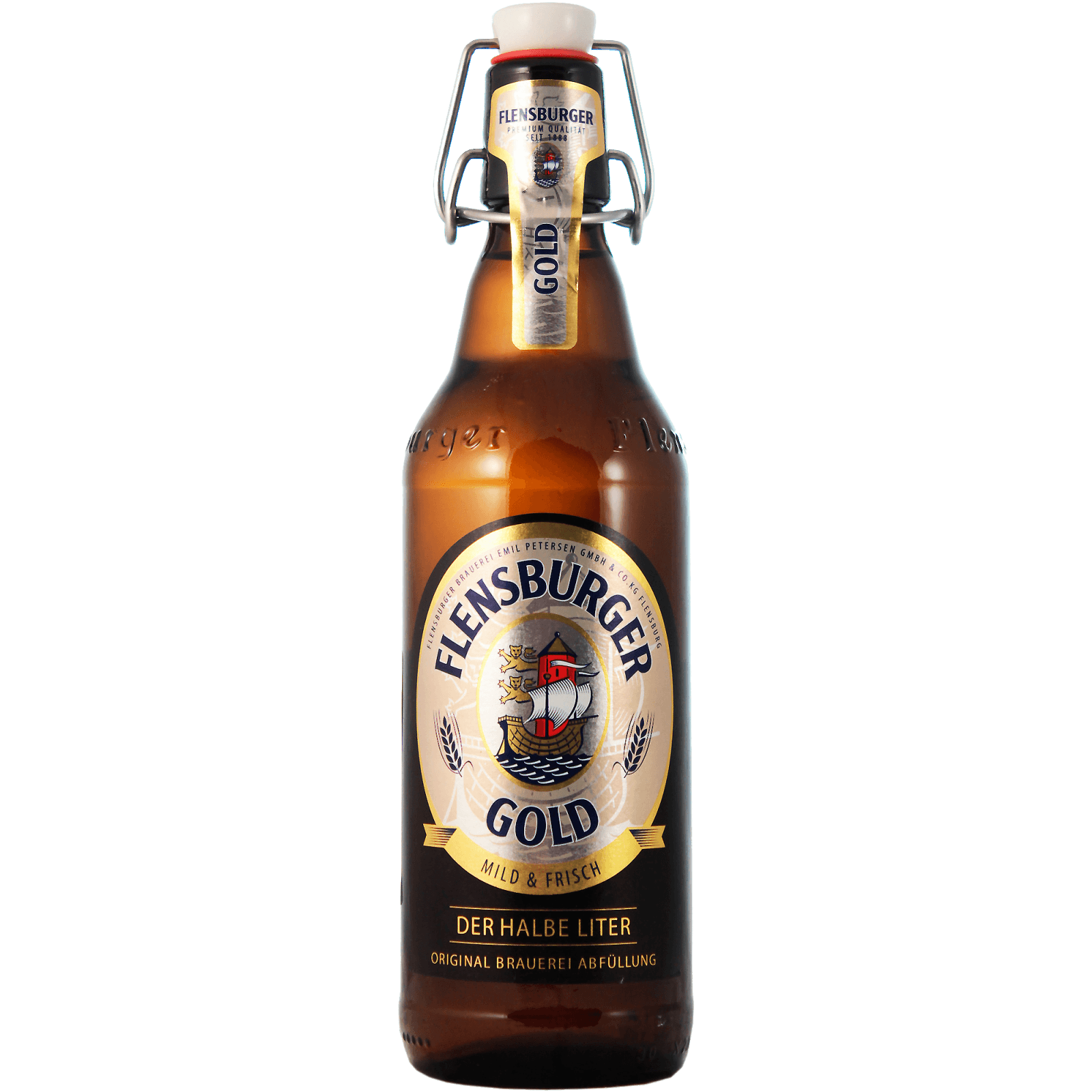 "Пиво ""Flensburger"" Gold, 0.5 л."