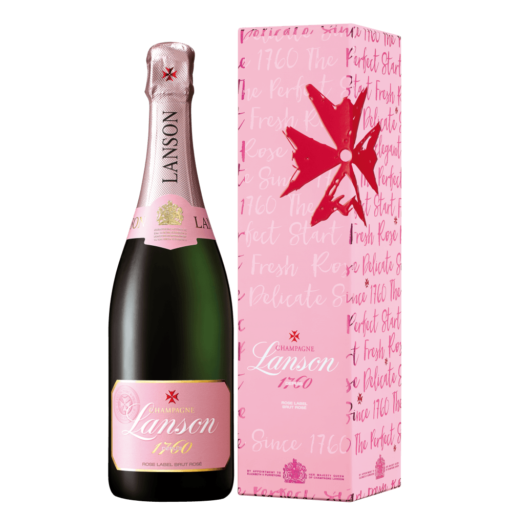 Шампанское Lanson Rose Label Brut Rose, 0.75 л. (s)