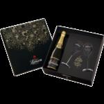 Шампанское Lanson Black Label Brut, 0.75 л., два бокала (s)