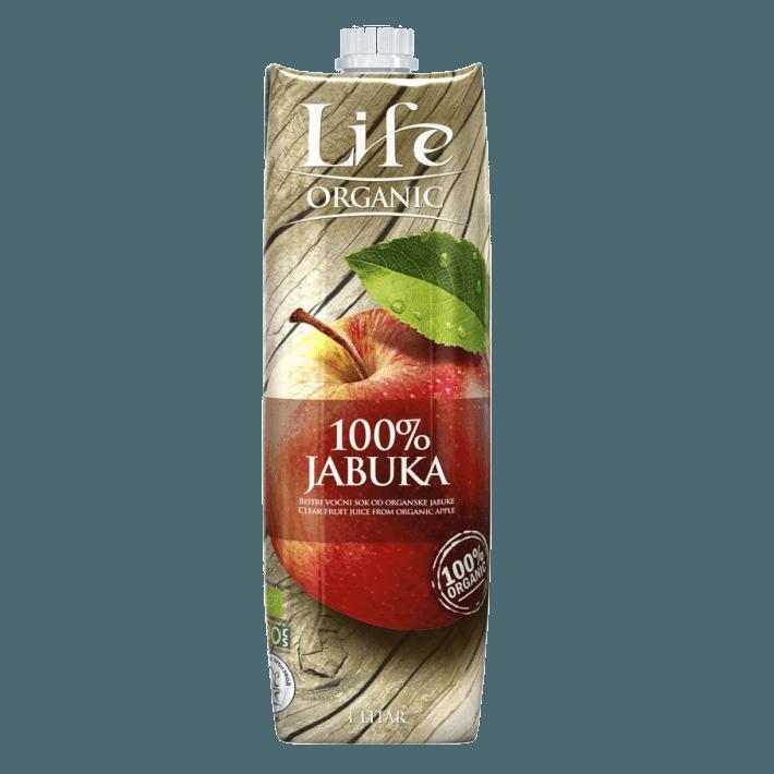Life, яблочный БИО-сок, 1.0 л.