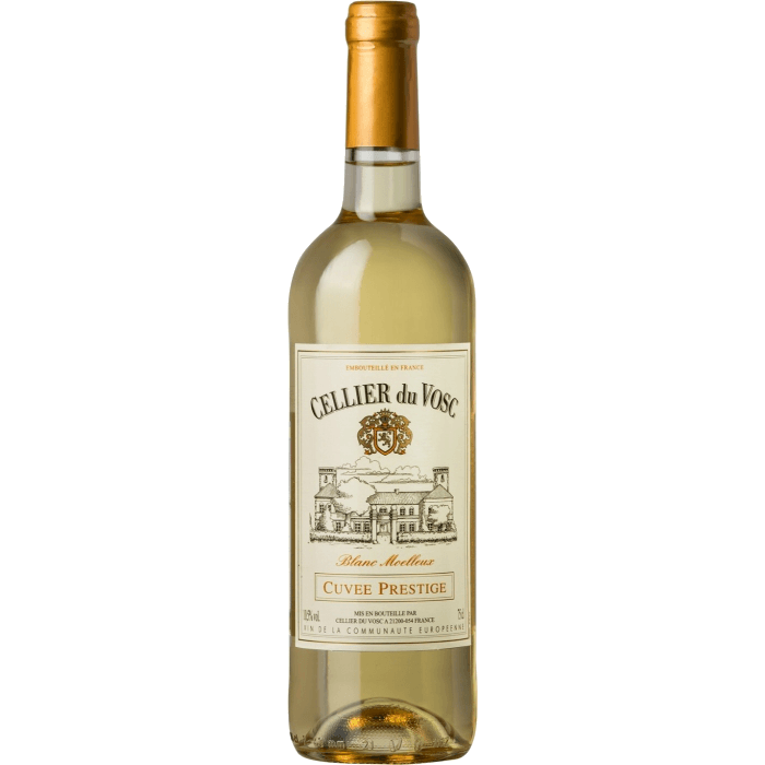 Вино Cellier du Vosc Cuvee Prestige White Semi sweet, 0.75 л. (ew)
