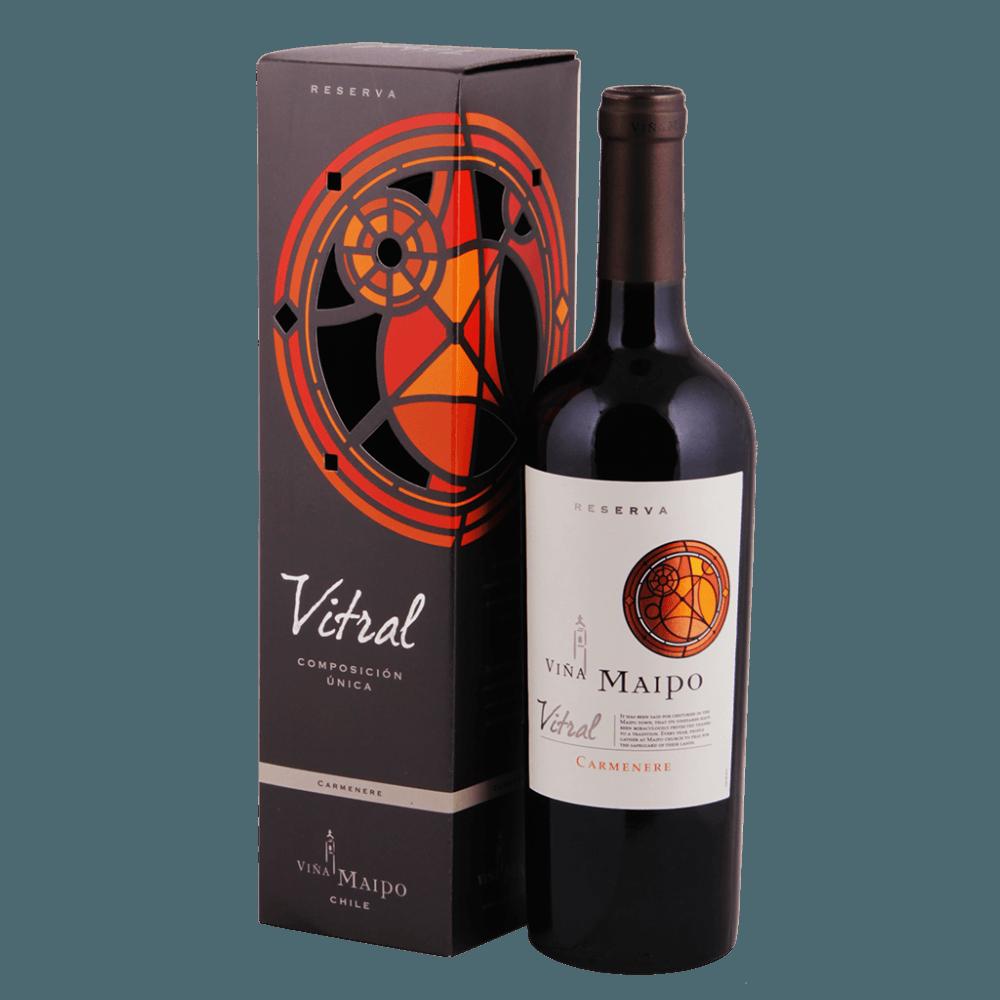Вино Витраль Карменер в ПУ, 0.75 л., 2015 г. (s)