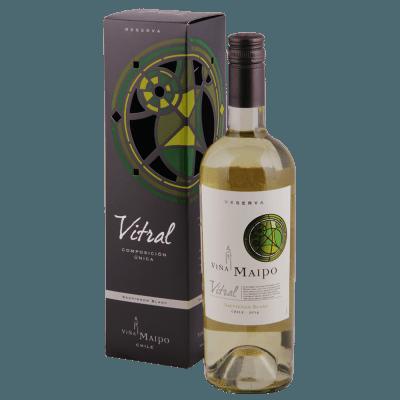 Вино Vitral Sauvignon Blanc Reserva, 0.75 л., 2017 г., П/У (s)