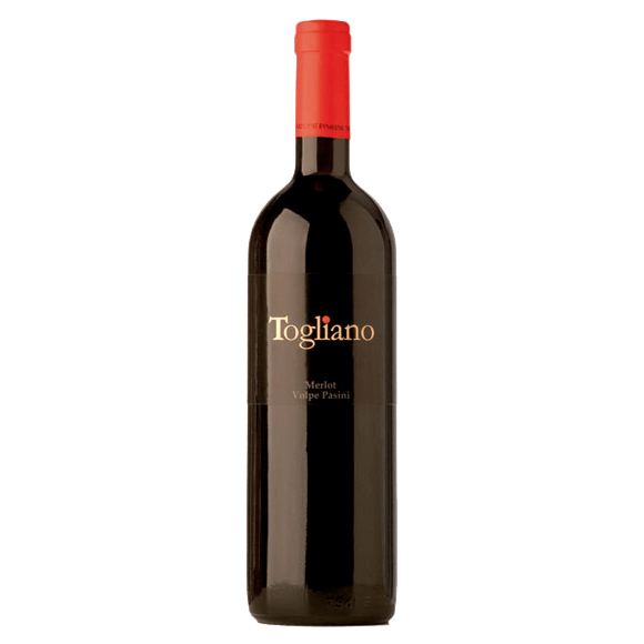 Вино Togliano Merlot Volpe Pasini, 0.75 л., 2013 г. (s)
