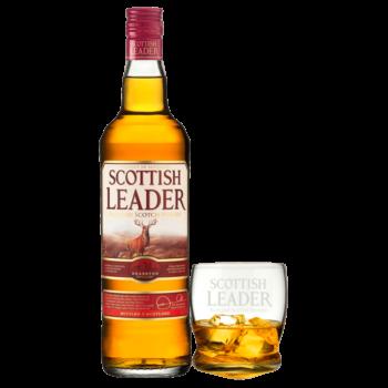 Виски Scottish Leader (со стаканом), 0.7 л.