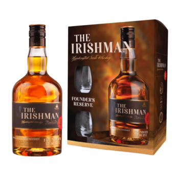 Наборы с бокалами The Irishman Founder's Reserve + 2 стакана, 0.7 л. (s)