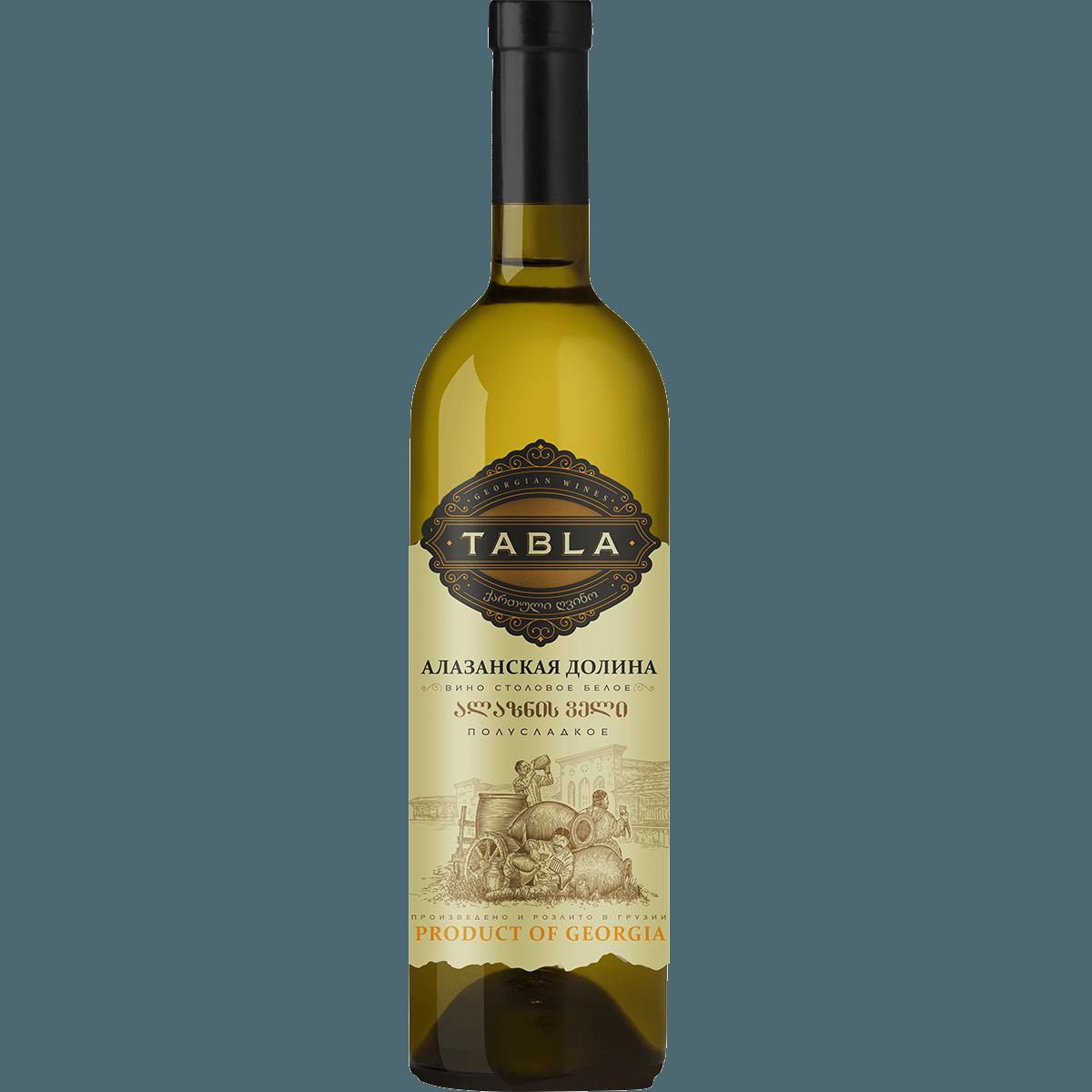 Вино Алазанская Долина Tabla, (белое , п/сладкое ), 0.75 л