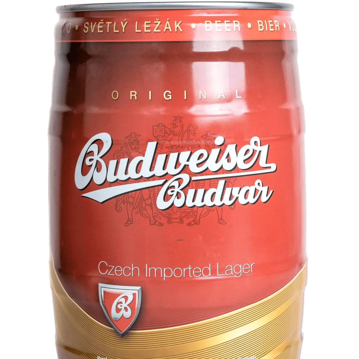 "Пиво ""Budweiser Budvar"" Svetly Lezak, mini keg, 5 л"